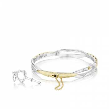Tacori Promise Bracelet Round Yellow Gold and Silver