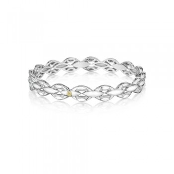 Tacori Bold Silver Links Bracelet featuring Diamonds