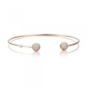 Tacori Pink Wire Dew Drop Cuff featuring Pave Diamonds