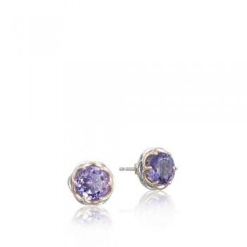 Tacori Lilac Blossoms Crescent Stud Earring