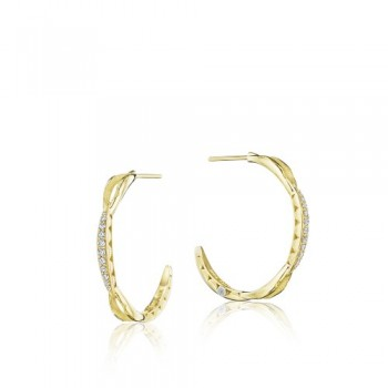 Tacori The Ivy Lane Petite Gold Crescent Curve Hoop Earring