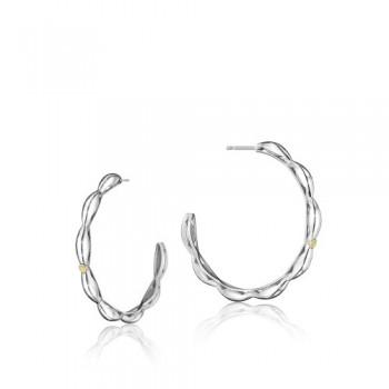 Tacori The Ivy Lane Sleek Crescent Curve Hoop Earring