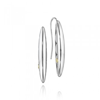 Tacori The Ivy Lane Thin Silver Marquise Drop Earring