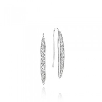 Tacori The Ivy Lane Silver Pave Marquise Drop Earring
