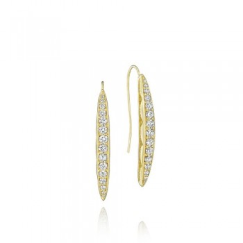Tacori The Ivy Lane Gold Pave Marquise Drop Earring