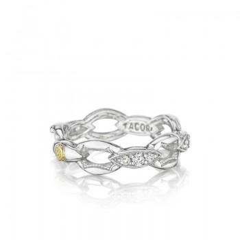 Tacori The Ivy Lane Silver Links Pave Ring