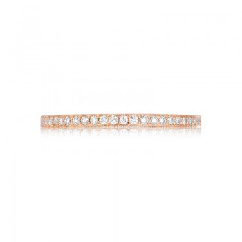 Tacori Pretty in Pink Collection Rose Gold Diamond Crescent Band 41-15PK