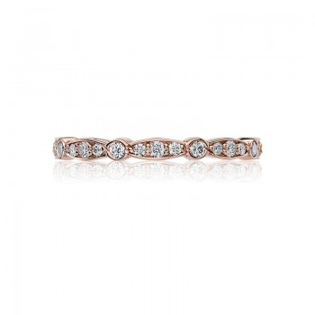 Tacori Sculpted Crescent Collection 18kt Rose Gold High Polished Band 47-2ETPK
