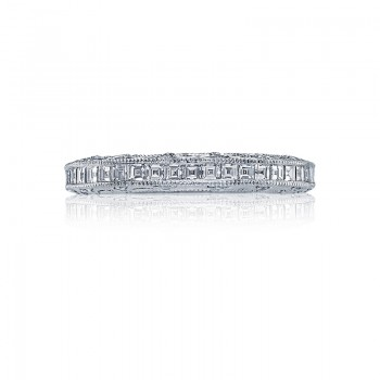 Tacori Reverse Crescent Collection Platinum and Diamond band HT2509B12X