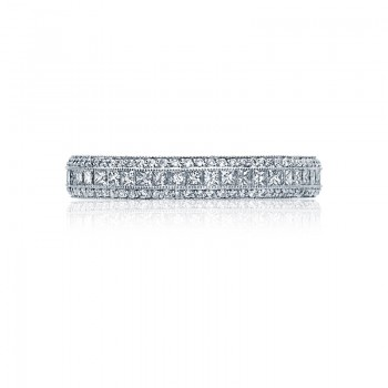 Tacori Classic Crescent Collection Platinum and Diamond Band HT2513PRB