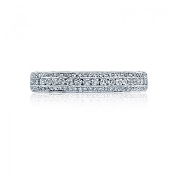 Tacori Classic Crescent Collection Platinum and Diamond band HT2513RDB