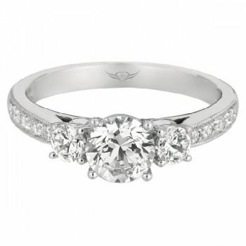 FlyerFit Bead Set Engagement Ring