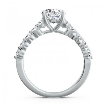 "Sasha Primak Eleven-Stone ""Royal Prong"" Diamond Engagement Ring"