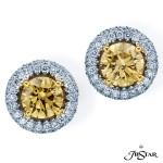 JB Star/Jewels By Star Fancy Color Diamond Earrings