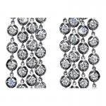 "Sasha Primak Flexible Four-Row Dangling Earrings with Round Diamond ""Bubbles"""