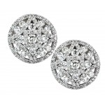 2.16 ct Disc Pave Earring