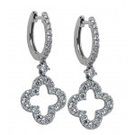 1.12 Carat Diamond Clover Earrings