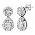 Martin Flyer Wedding Day Jewelry Halo Earring EPS01SCUQ-D-3.5RD