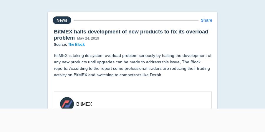 BitMEX halts development of new products to fix its overload
