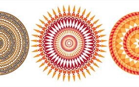 Mandala com Pincél de Padrão