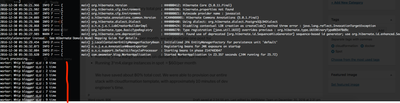 docker logs on spot instances ECS