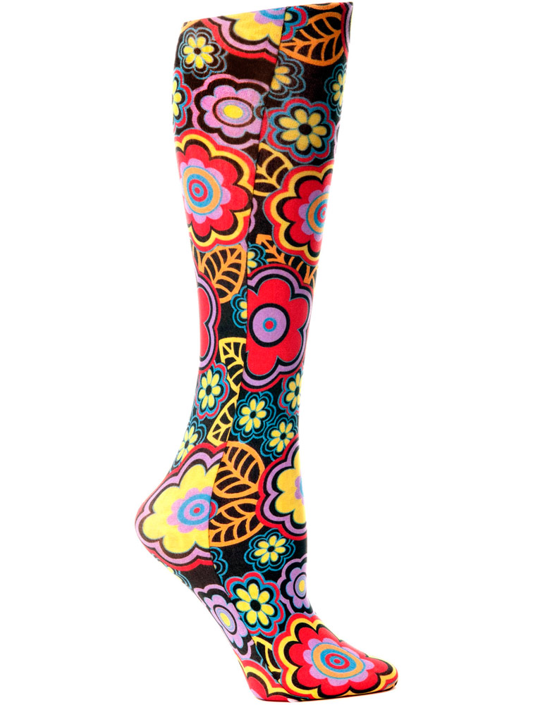 'Black Vogue' Fashion Compression Sock 8-15 mmHg