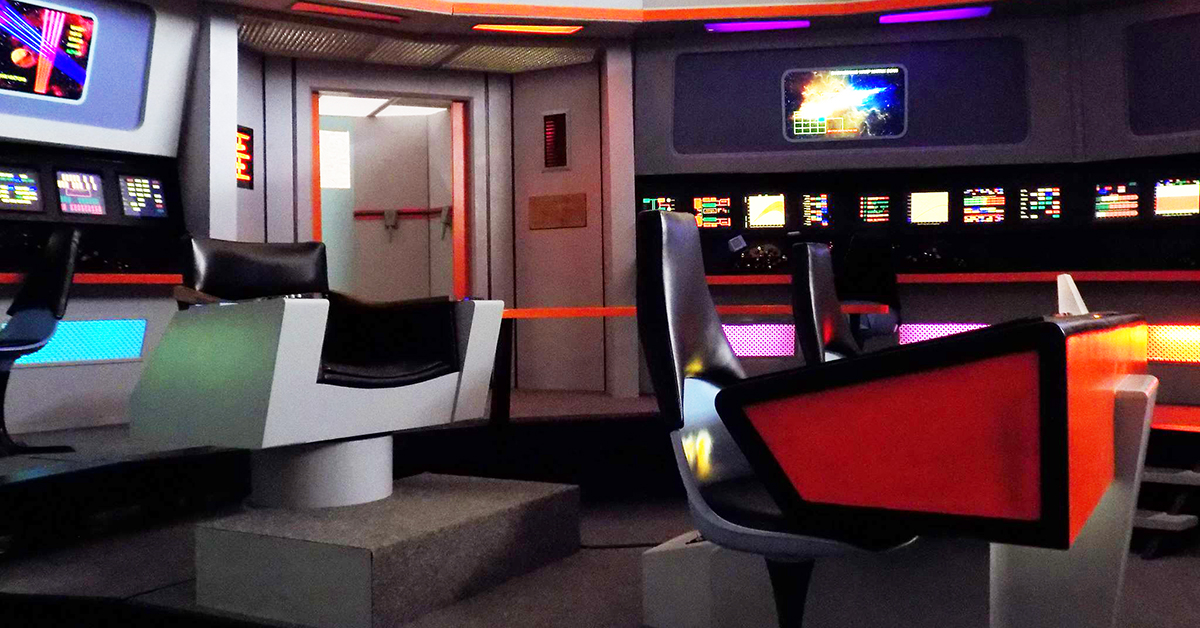 USS Enterprise Bridge Command Chair