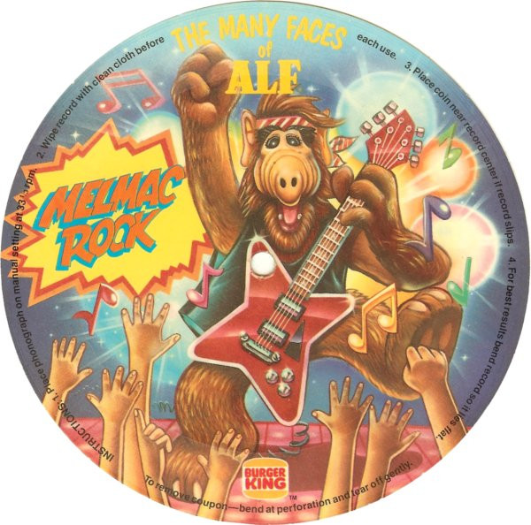burger king released alf records with its kids meals - Alf Halloween Episode
