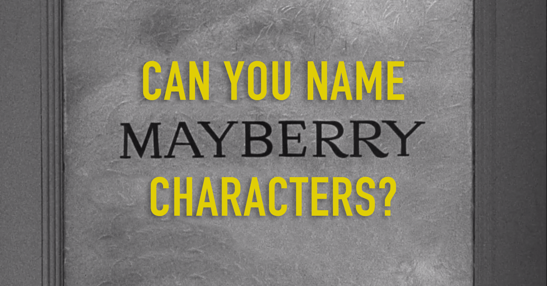 Can you name these citizens of Mayberry?