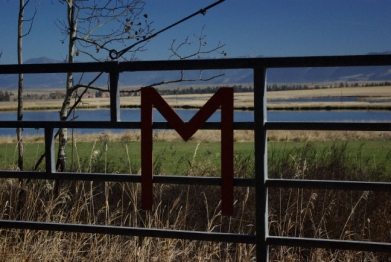 Meyer Company Ranch entrance gate. Welcome!