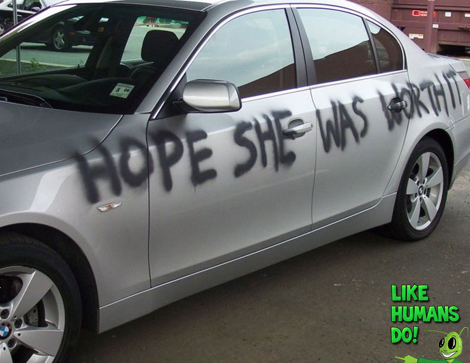 Car revenge on boyfriend