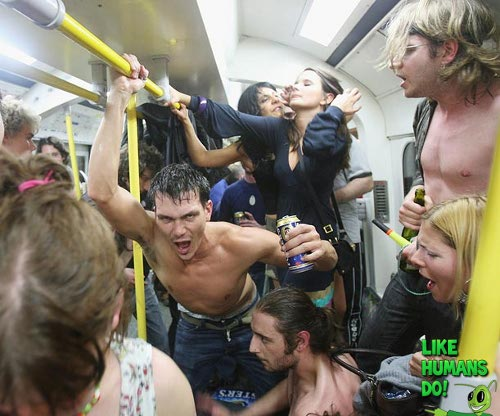 Funny Drunks on Train