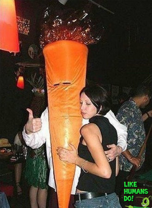 Funny Carrot Head Costume