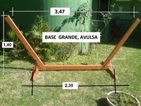 base de madeira para rede descanso
