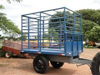 Carreta de ferro para transporte de animais