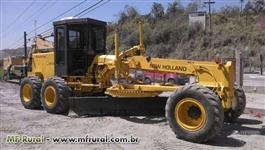 MOTONIVELADORA NEW HOLLAND 105B - NOVISSINA TRABALHANDO
