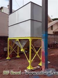 Silo tipo caixa reforçada , para 7 mts cubicos medindo 3000 mm de larg  x 1000 de comp