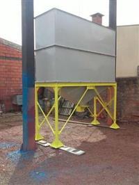 Caixa para armazenamento metalica de 7 metros cubicos toda em chapa aço carbono 3000 mm x 1000 mm