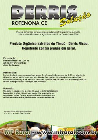 ROTENONA DERRIS SOLUÇÃO