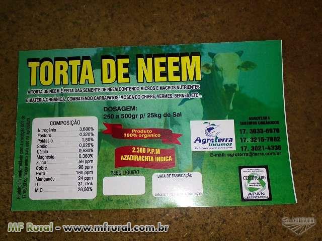 TORTA DE NEEM  COM ALTA CONCENTRAÇÃO