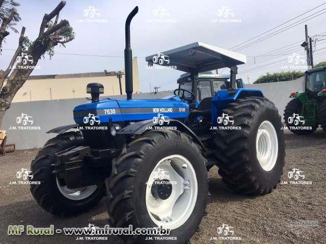 Trator New Holland 7630 S100 4x4 ano 05