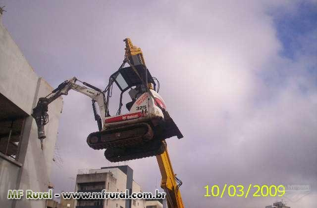 Bob Loc Locação de Bobcat Escavadeira e Carregadeira. Rompedor Hidráulico