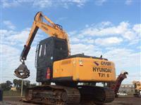 Escavadeira Hyundai modelo X210 LC-7 ano de fabricação 2012 (Madeira)