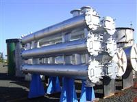 Conjunto aquecedor de caldo Weber com 3 corpos, com 20 tubos por passe e dois passes por corpo
