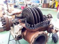 Turbina marca NG, DME 700S, múltiplos estágios, pressão 21 kgf, contra pressão 1,5, 4000rpm, 3500hp
