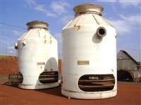Torre marca EDRA; resfriamento de vinhaça; capacidade 160.000 litros/hora