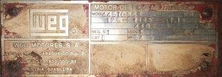 Motor elétrico WEG 125 cv  e outros