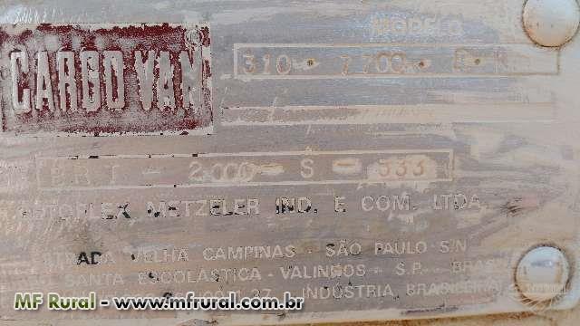 BAÚ ALUMINIO MARCA GARGO VAN ANO 2000
