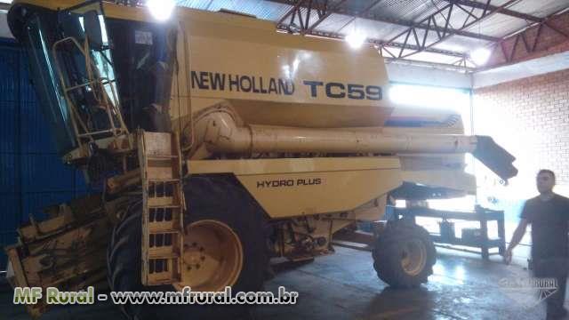 COLHEITADEIRA NH TC59, ANO 2000