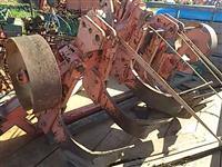 Subsolador super pesado chassi 7x5 civemasa hidráulico rodas trator pneus esteir